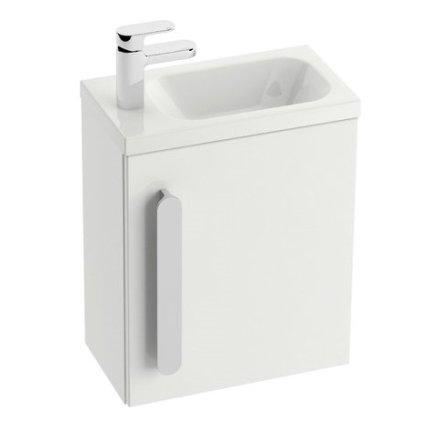 Usa pentru dulap baza lavoar Ravak Concept Chrome SD 400 stanga, 37x25x53cm, alb
