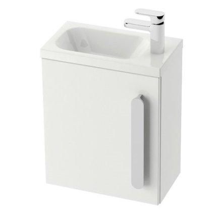 Usa pentru dulap baza lavoar Ravak Concept Chrome SD 400 dreapta, 37x25x53cm, alb