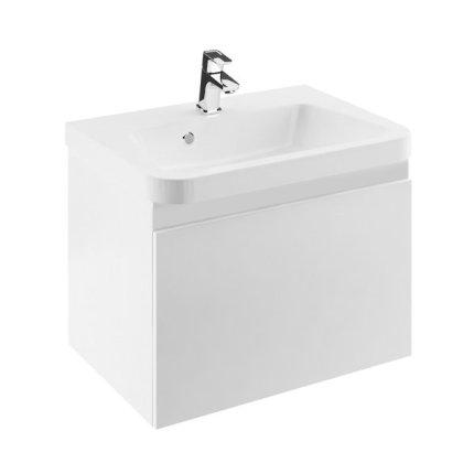 Dulap baza pentru lavoar Ravak Concept 10° cu un sertar, 55x45x45cm, alb
