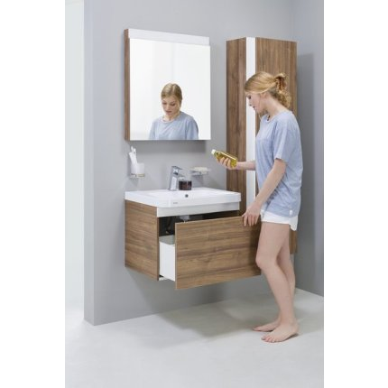 Dulap baza pentru lavoar Ravak Concept 10° cu un sertar, 65x45x45cm, nuc inchis