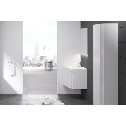 Dulap baza pentru lavoar de colt Ravak Concept 10° cu un sertar, 55x48.5x45cm, stanga, alb