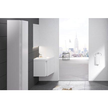 Dulap baza pentru lavoar de colt Ravak Concept 10° cu un sertar, 65x53.5x45cm, dreapta, alb