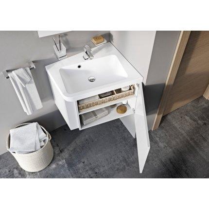 Dulap baza pentru lavoar de colt Ravak Concept 10° cu un sertar, 65x53.5x45cm, dreapta, gri