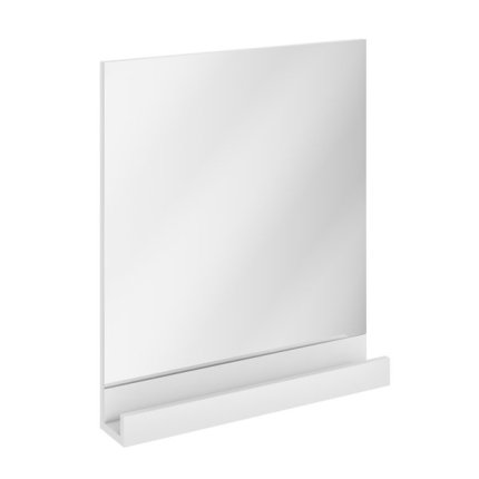 Oglinda baie Ravak Concept 10° cu polita, 55x75x11cm, alb