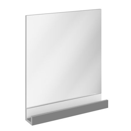 Oglinda baie Ravak Concept 10° cu polita, 65x75x11cm, gri
