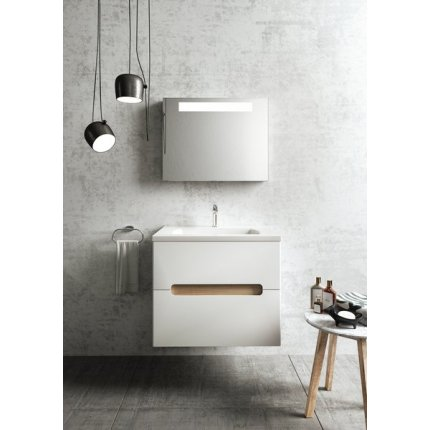Dulap baza pentru lavoar Ravak Concept Classic II SD 700 cu doua sertare, 70x49x60cm, cappuccino-alb