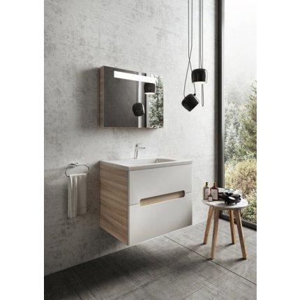 Dulap baza pentru lavoar Ravak Concept Classic II SD 600 cu doua sertare, 60x49x60cm, cappuccino-alb