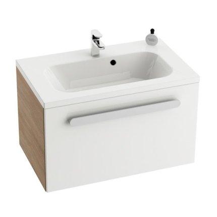 Dulap baza pentru lavoar Ravak Concept Chrome SD 600 cu un sertar, 60x49x47cm, cappuccino-alb