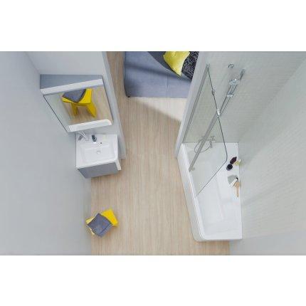 Oglinda de colt Ravak Concept 10° 55x75x15cm, stanga, nuc inchis