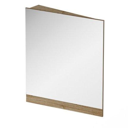 Oglinda de colt Ravak Concept 10° 65x75x15cm, stanga, nuc inchis