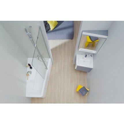 Oglinda de colt Ravak Concept 10° 55x75x15cm, dreapta, nuc inchis