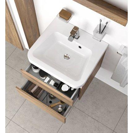 Dulap baza pentru lavoar Ravak Concept 10° cu 2 sertare, 65x45x45cm, nuc inchis