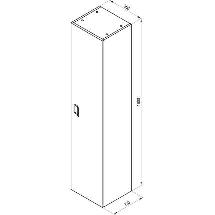 Dulap inalt suspendat Ravak SB Comfort 400 D, 160x35x32cm, alb