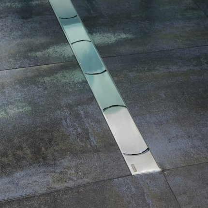 Rigola de dus Ravak Concept Chrome OZ 95cm inox