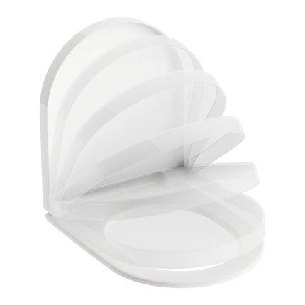 Capac WC Ravak Concept Chrome cu inchidere lenta, pentru vas WC RimOff