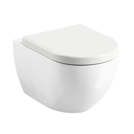 Capac WC Ravak Concept Chrome Uni 02A cu inchidere lenta, alb
