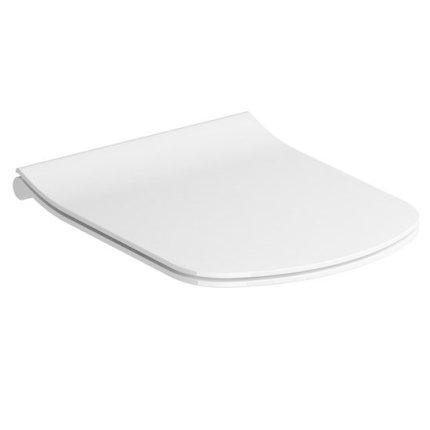 Capac WC Ravak Concept Classic slim cu inchidere lenta, alb