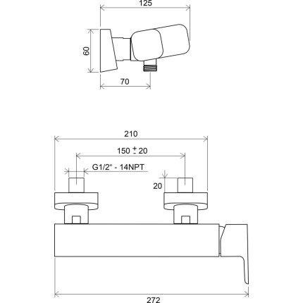 Baterie dus Ravak Concept 10°