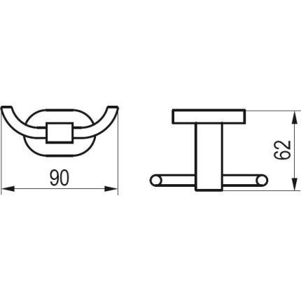 Cuier dublu Ravak Concept Chrome CR 100