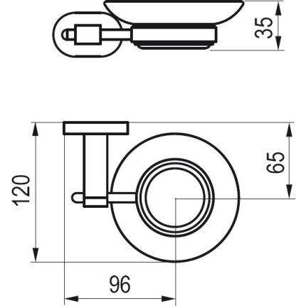 Savoniera cu suport Ravak Concept Chrome CR200
