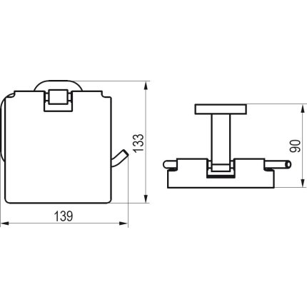Suport hartie igienica Ravak Concept Chrome CR 400