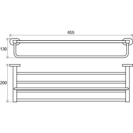 Etajera port-prosop Ravak Concept Chrome CR 330, 66cm