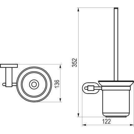 Perie WC cu suport Ravak Concept Chrome CR 410