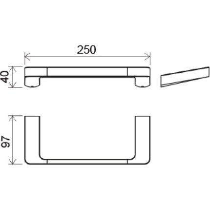 Port-prosop Ravak Concept 10°, 25cm