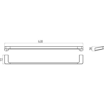 Port-prosop Ravak Concept 10°, 63cm