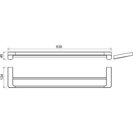 Port-prosop dublu Ravak Concept 10°, 63cm