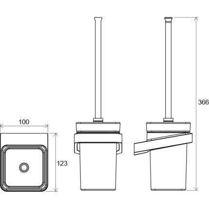 Perie WC cu suport Ravak Concept 10°