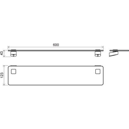 Etajera sticla Ravak Concept 10°, 60cm