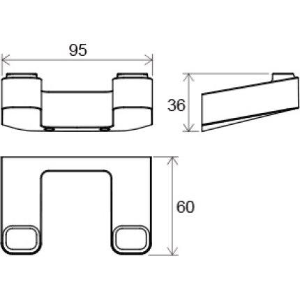 Cuier dublu Ravak Concept 10°