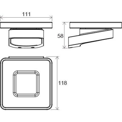 Savoniera cu suport Ravak Concept 10°