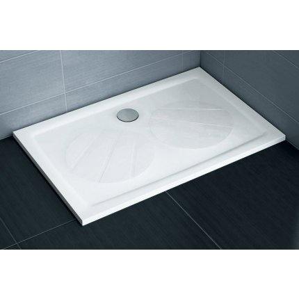 Cadita de dus rectangulara Ravak Gigant Pro 120x90cm, alb
