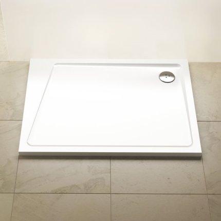 Cadita de dus rectangulara Ravak Concept 10° Gigant Pro 100x80cm stanga, alb