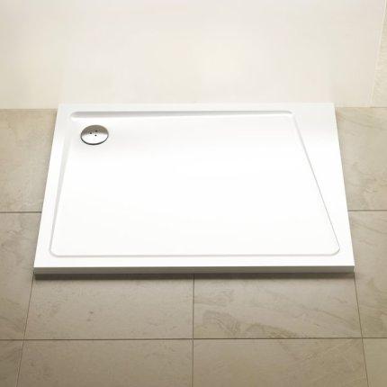 Cadita de dus rectangulara Ravak Concept 10° Gigant Pro 100x80cm dreapta, alb