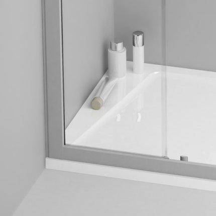 Cadita de dus patrata Ravak Concept 10° Perseus Pro-100, 100x100cm, alb