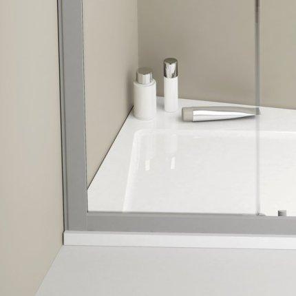 Cadita de dus asimetrica Ravak Concept 10° Asymetric Pro 120x90 stanga, alb