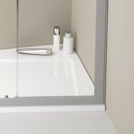 Cadita de dus asimetrica Ravak Concept 10° Asymetric Pro 120x90 dreapta, alb