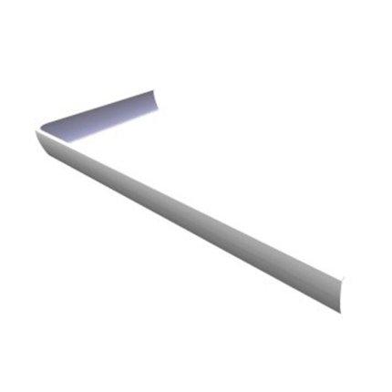Panou frontal pentru cadita de dus asimetrica Ravak Concept 10° Asymetric Pro 120x90 stanga, alb
