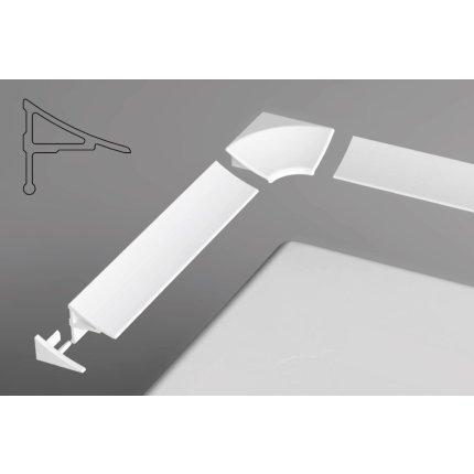 Set conectori profile mascare Ravak 11mm, alb