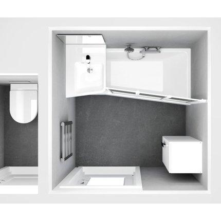 Lavoar de colt Ravak BeHappy II 50x66.5cm, stanga, alb