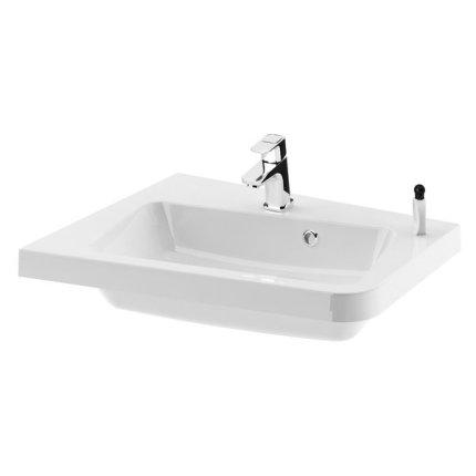 Lavoar asimetric Ravak Concept 10° 55x48.5cm, stanga, alb