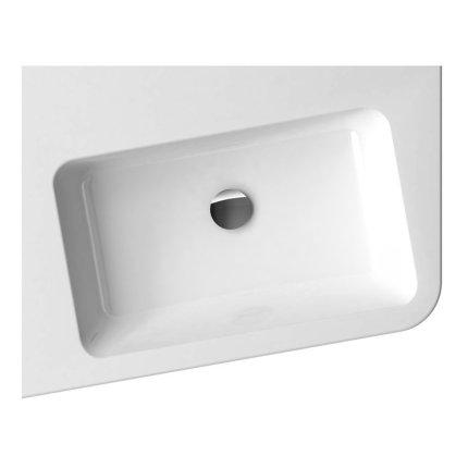 Lavoar asimetric Ravak Concept 10° 65x53.5cm, stanga, alb