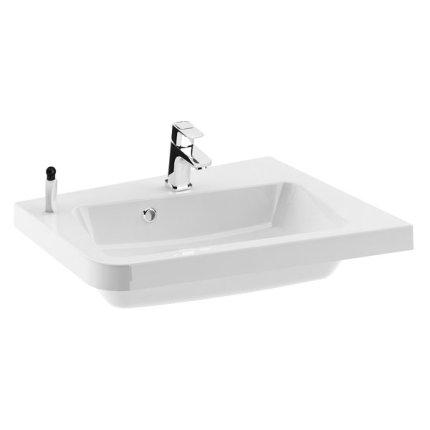 Lavoar asimetric Ravak Concept 10° 55x48.5cm, dreapta, alb