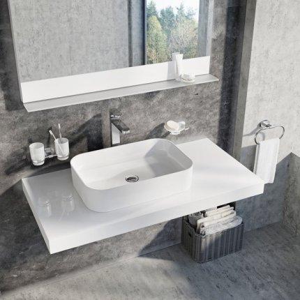 Lavoar tip bol Ravak Ceramic Slim R 55x37x12cm, alb