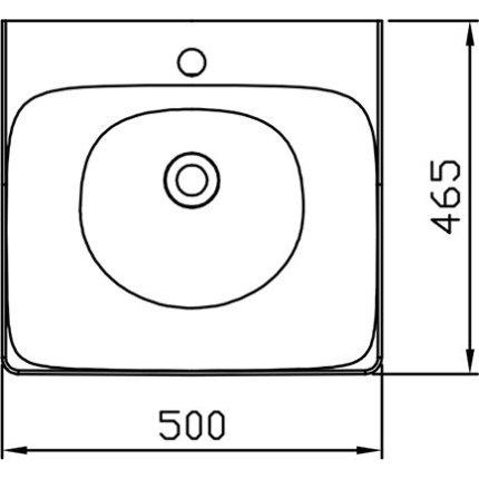 Lavoar cu montaj pe mobilier Ravak Balance 500