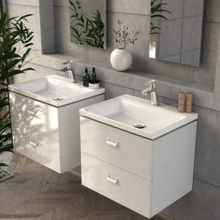 Lavoar Ravak Comfort 800 cu montare pe mobilier, fara orificiu preaplin, 80x46cm, alb