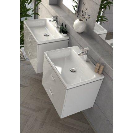Lavoar Ravak Comfort 600 cu montare pe mobilier, fara orificiu preaplin, 60x46cm, alb